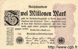 2 Millionen Mark ALLEMAGNE  1923 P.104b SUP