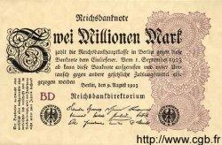 2 Millionen Mark ALLEMAGNE  1923 P.104b pr.NEUF
