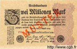 2 Millionen Mark ALLEMAGNE  1923 P.104cs NEUF