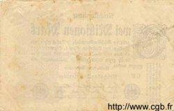 2 Millionen Mark ALLEMAGNE  1923 P.104c TB