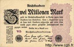 2 Millionen Mark ALLEMAGNE  1923 P.104c TTB