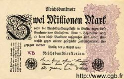 2 Millionen Mark ALLEMAGNE  1923 P.104c SUP
