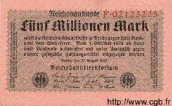 5 Millionen Mark ALLEMAGNE  1923 P.105 TTB+