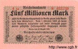 5 Millionen Mark ALLEMAGNE  1923 P.105 pr.NEUF