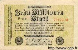 10 Millionen Mark ALLEMAGNE  1923 P.106a TB