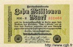 10 Millionen Mark ALLEMAGNE  1923 P.106var pr.NEUF