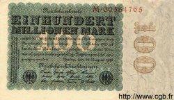 100 Millionen Mark ALLEMAGNE  1923 P.107a