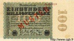 100 Millionen Mark ALLEMAGNE  1923 P.107cs SPL