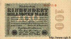 100 Millionen Mark ALLEMAGNE  1923 P.107c TB+
