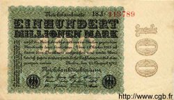 100 Millionen Mark ALLEMAGNE  1923 P.107c SUP