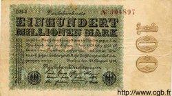 100 Millionen Mark ALLEMAGNE  1923 P.107d TB