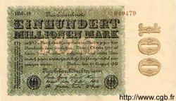 100 Millionen Mark ALLEMAGNE  1923 P.107d SUP
