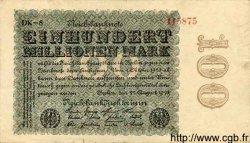 100 Millionen Mark ALLEMAGNE  1923 P.107e TB à TTB
