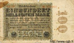 100 Millionen Mark ALLEMAGNE  1923 P.107e AB