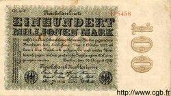 100 Millionen Mark ALLEMAGNE  1923 P.107e TTB