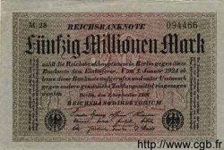 50 Millions Mark ALLEMAGNE  1923 P.109a TTB+ à SUP