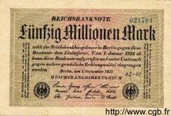 50 Millionen Mark ALLEMAGNE  1923 P.109b TTB