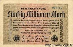 50 Millionen Mark ALLEMAGNE  1923 P.109b pr.SUP