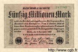 50 Millionen Mark ALLEMAGNE  1923 P.109c SPL+