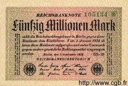 50 Millionen Mark ALLEMAGNE  1923 P.109d pr.NEUF