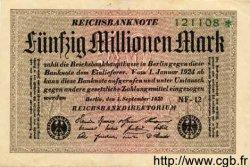 50 Millionen Mark ALLEMAGNE  1923 P.109f TTB
