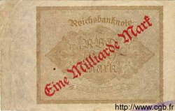 1 Milliarde Mark sur 1000 Mark ALLEMAGNE  1922 P.113a B