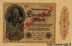 1 Milliarde Mark sur 1000 Mark ALLEMAGNE  1922 P.113b TTB