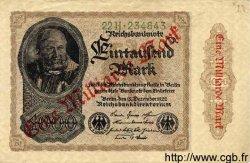 1 Milliarde Mark sur 1000 Mark ALLEMAGNE  1922 P.113b TTB à SUP