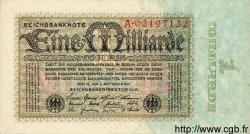 1 Milliarde Mark ALLEMAGNE  1923 P.114 SPL