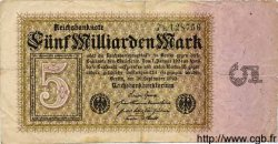 5 Milliarden Mark ALLEMAGNE  1923 P.115a TB