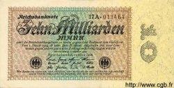 10 Milliarden Mark ALLEMAGNE  1923 P.116a SPL+