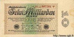 10 Milliarden Mark ALLEMAGNE  1923 P.116b TTB