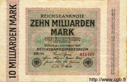 10 Milliarden Mark ALLEMAGNE  1923 P.117a TB