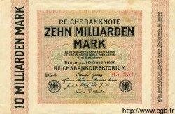 10 Milliarden Mark ALLEMAGNE  1923 P.117a SUP