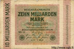 10 Milliarden Mark ALLEMAGNE  1923 P.117b B