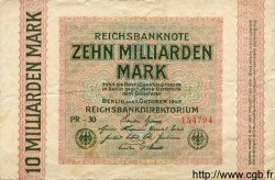 10 Milliarden Mark ALLEMAGNE  1923 P.117b TB