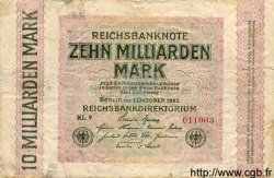 10 Milliarden Mark ALLEMAGNE  1923 P.117c AB