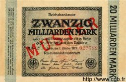 20 Milliarden Mark ALLEMAGNE  1923 P.118as NEUF