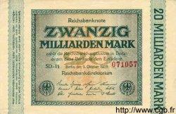 20 Milliarden Mark ALLEMAGNE  1923 P.118a SPL