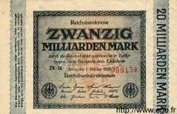 20 Milliarden Mark ALLEMAGNE  1923 P.118c pr.TTB