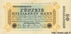 50 Milliarden Mark ALLEMAGNE  1923 P.119c TTB