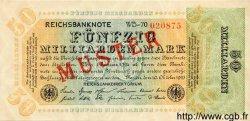 50 Milliarden Mark ALLEMAGNE  1923 P.120as SPL