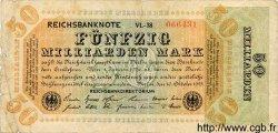 50 Milliarden Mark ALLEMAGNE  1923 P.120a B+