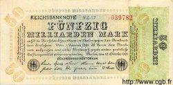 50 Milliarden Mark ALLEMAGNE  1923 P.120a TTB
