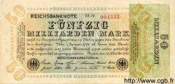 50 Milliarden Mark ALLEMAGNE  1923 P.120- SUP