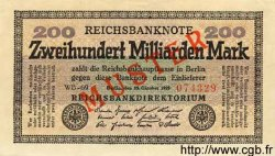 200 Milliarden Mark ALLEMAGNE  1923 P.121as SPL