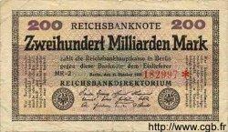 200 Milliarden Mark ALLEMAGNE  1923 P.121a B