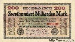 200 Milliarden Mark ALLEMAGNE  1923 P.121a SUP