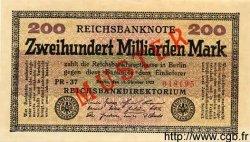 200 Milliarden Mark ALLEMAGNE  1923 P.121bs NEUF