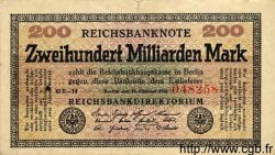 200 Milliarden Mark ALLEMAGNE  1923 P.121b TTB